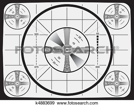 Clip Art of Television Test Pattern k4883699.