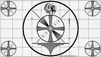 Indian head test pattern clipart.