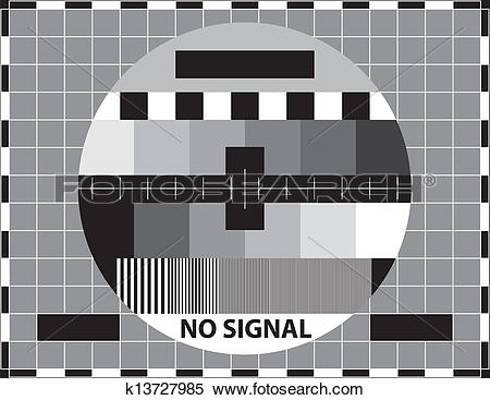 Clipart of Television test pattern k13727985.