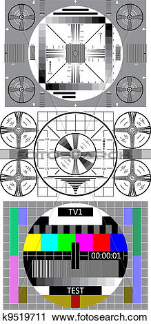Clipart of tv test pattern k9519711.