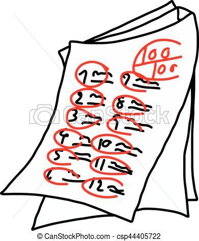 Test Score Clipart.