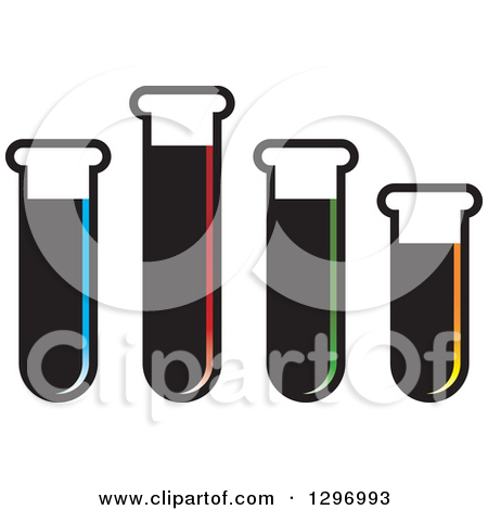 Clipart of a Black and White Test Tube Stand.