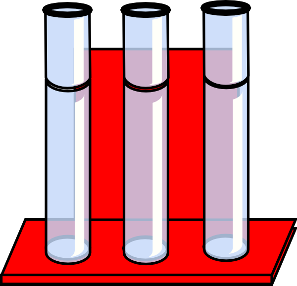 Test Tubes In Red Stand Clip Art at Clker.com.