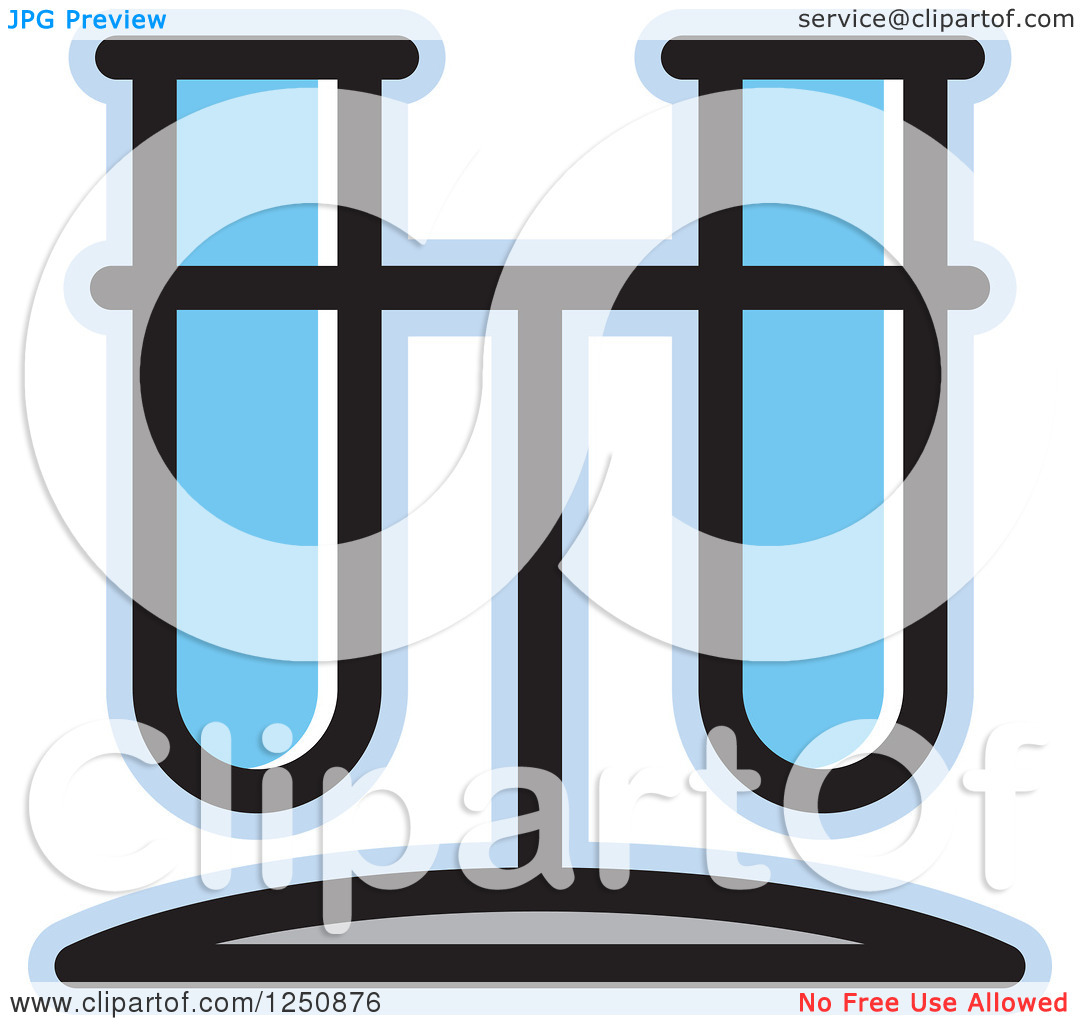 Clipart of a Blue Test Tube Stand.