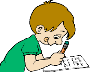 Testing clipart of child taking a test collection krazee 4.