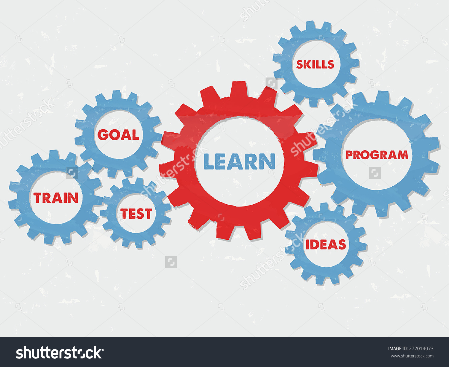 Learn Goal Train Test Skills Program Stock Vector 272014073.