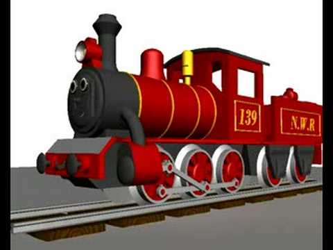Animated 3D Steam Train test.