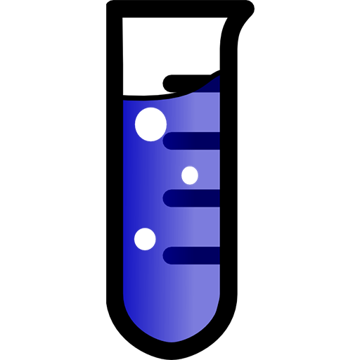 Laboratory test tube clipart image.