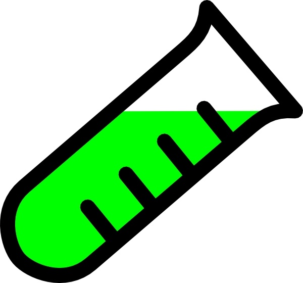 Graded Test Tube clip art Free vector in Open office drawing.