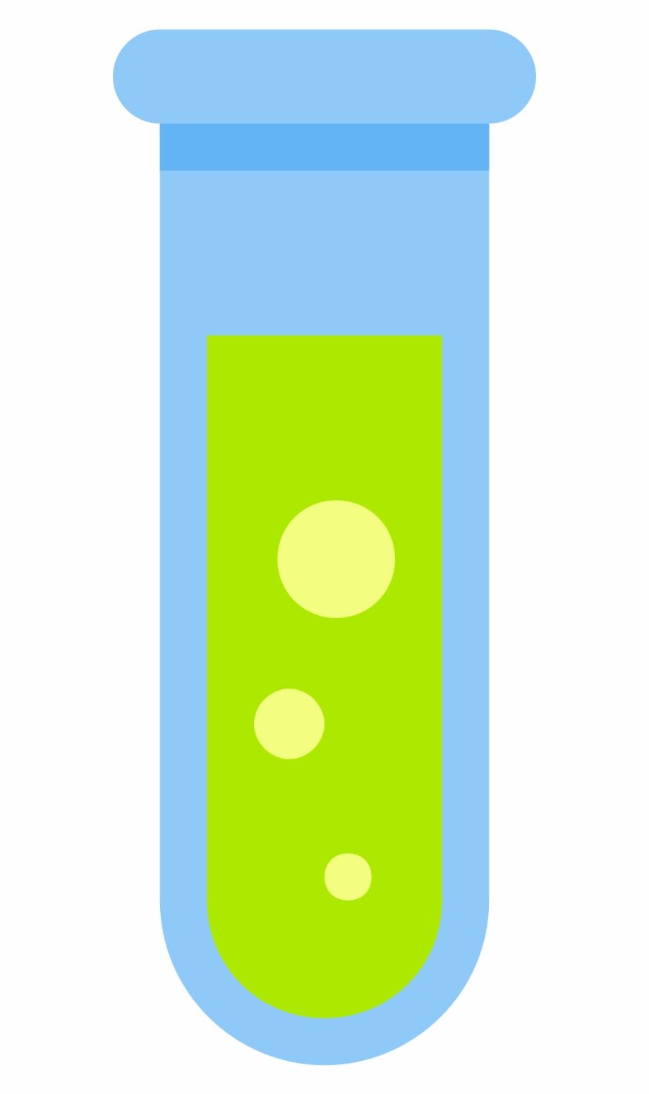 Thin Test Tube Icon.