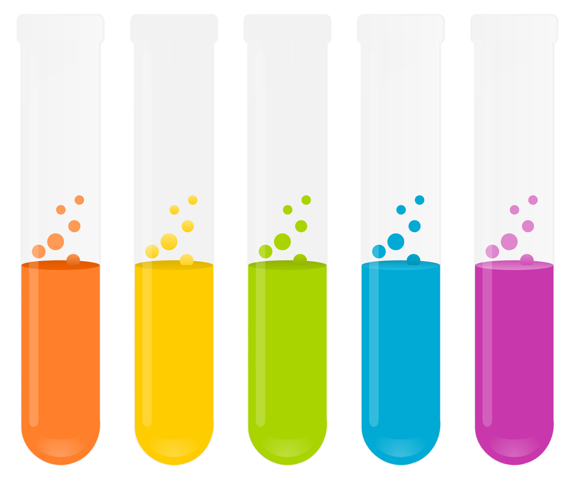 Science test tubes clipart no background.