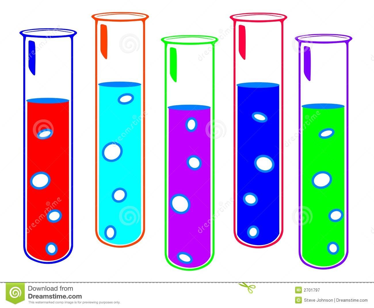 School Test Tubes Clipart.