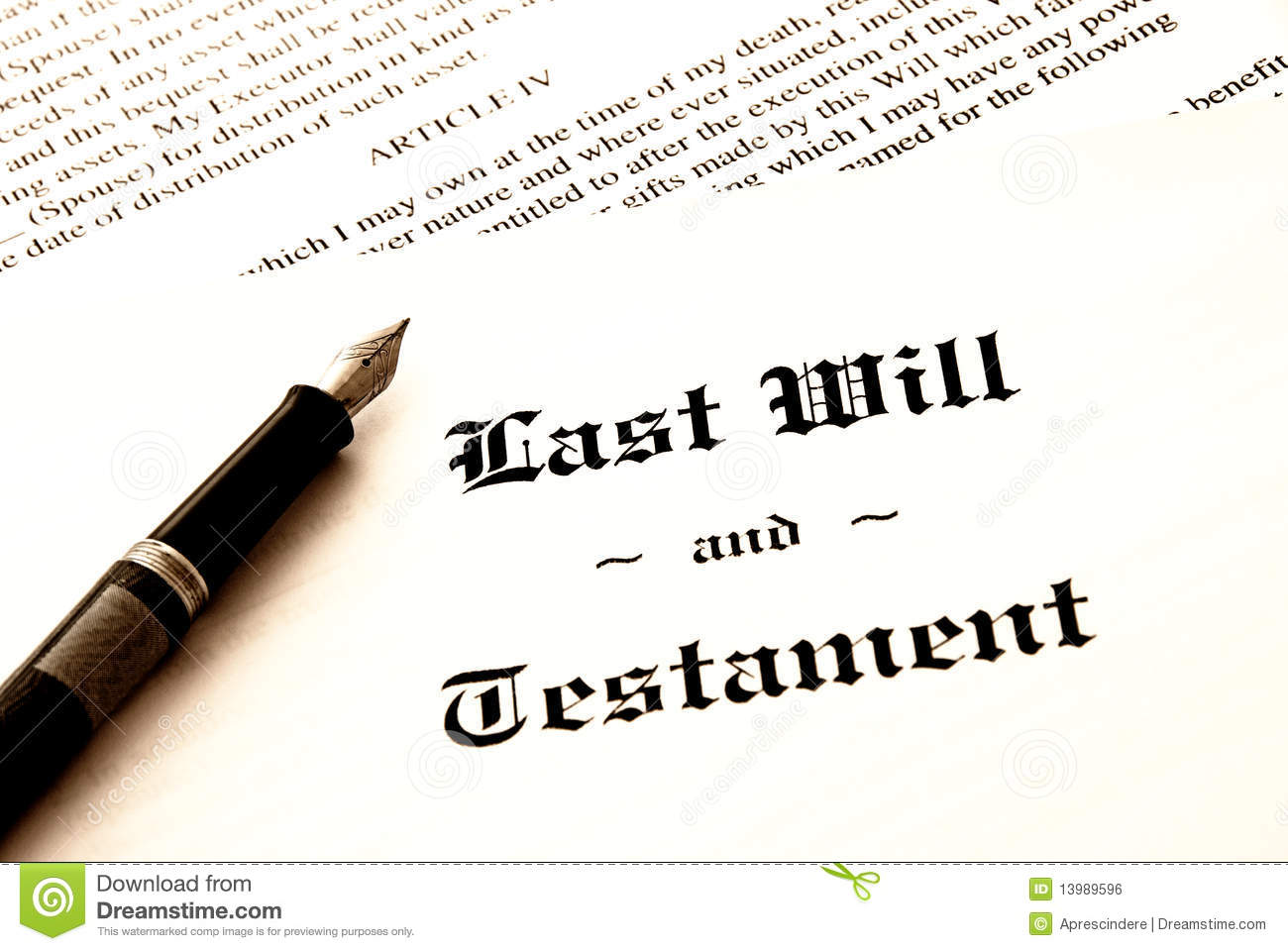 Last Will And Testament Clipart.