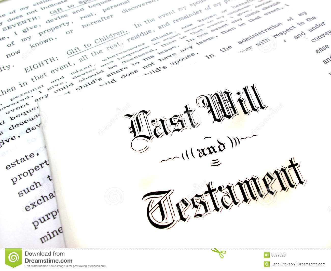 Will And Testament Clipart.