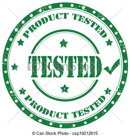Vector Clip Art of Tested.