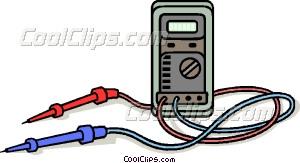 electricity tester Vector Clip art.