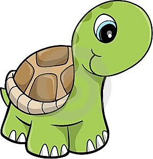 Cute Girl Turtle Clipart.