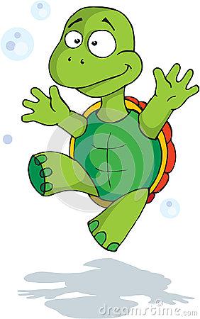 Happy Tortoise Stock Image.