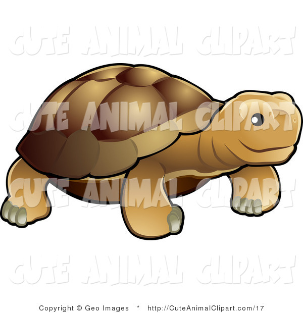 Vector Clip Art of a Cute Tortoise by AtStockIllustration.