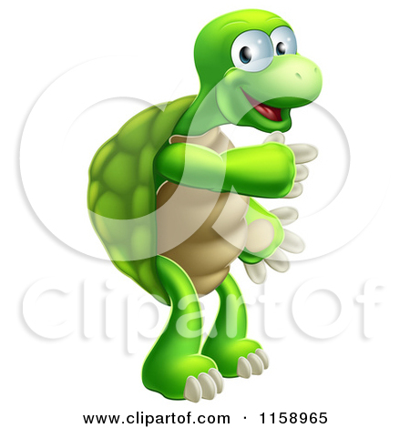 Brown Tortoise With a Dark Shell Clipart Illustration Image by.