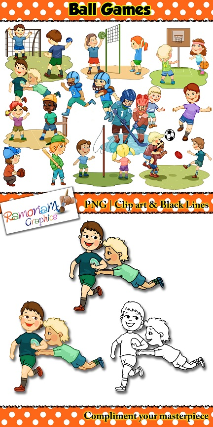 Ball sports and games Clip art.