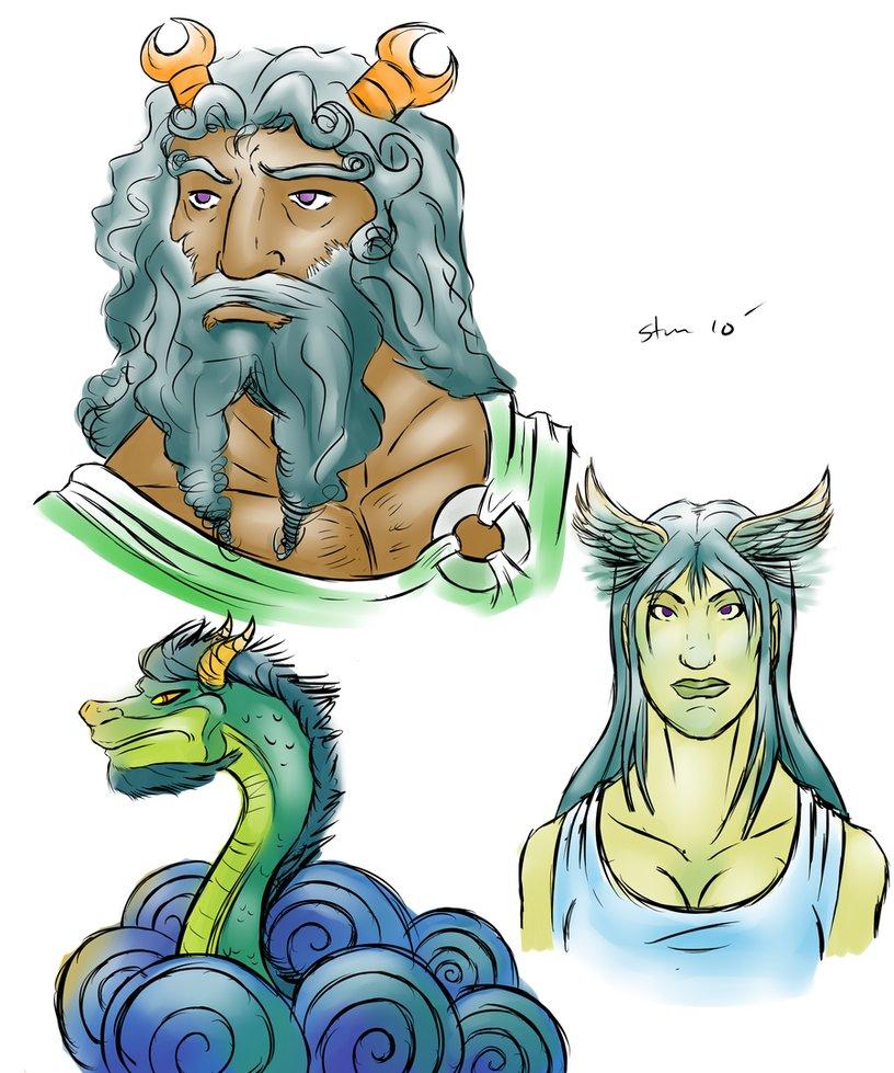 Oceanus and Tethys.