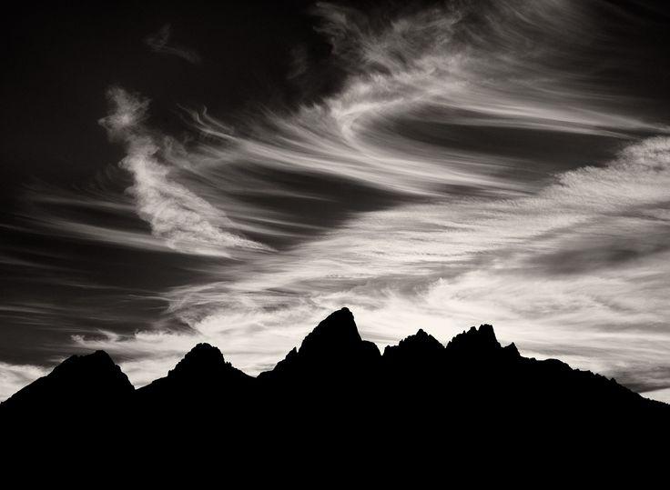 the grand tetons silhouette.