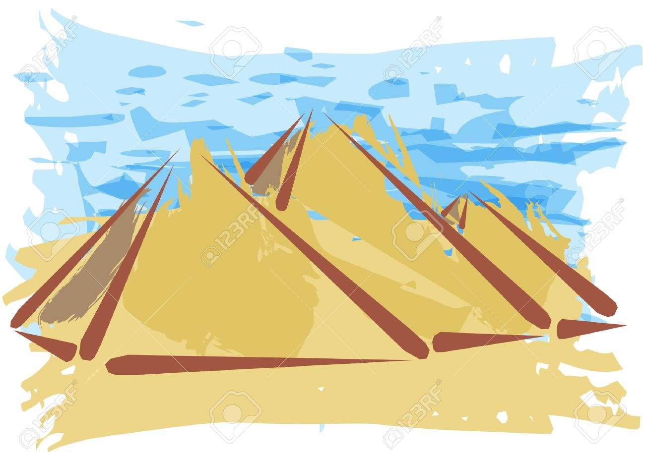 Pyramide, Travel Desitnation Concept.