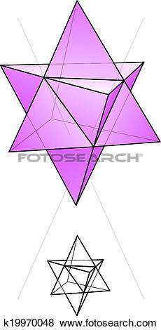 Clip Art of Star Tetrahedron.
