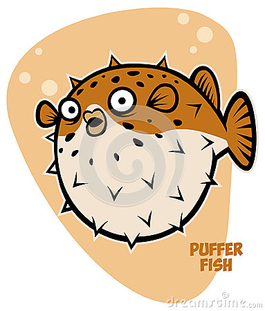 Face Puffer Fish's Stock Illustrations.