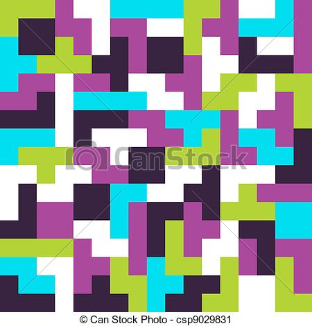 Tetris Clip Art Vector Graphics. 368 Tetris EPS clipart vector and.