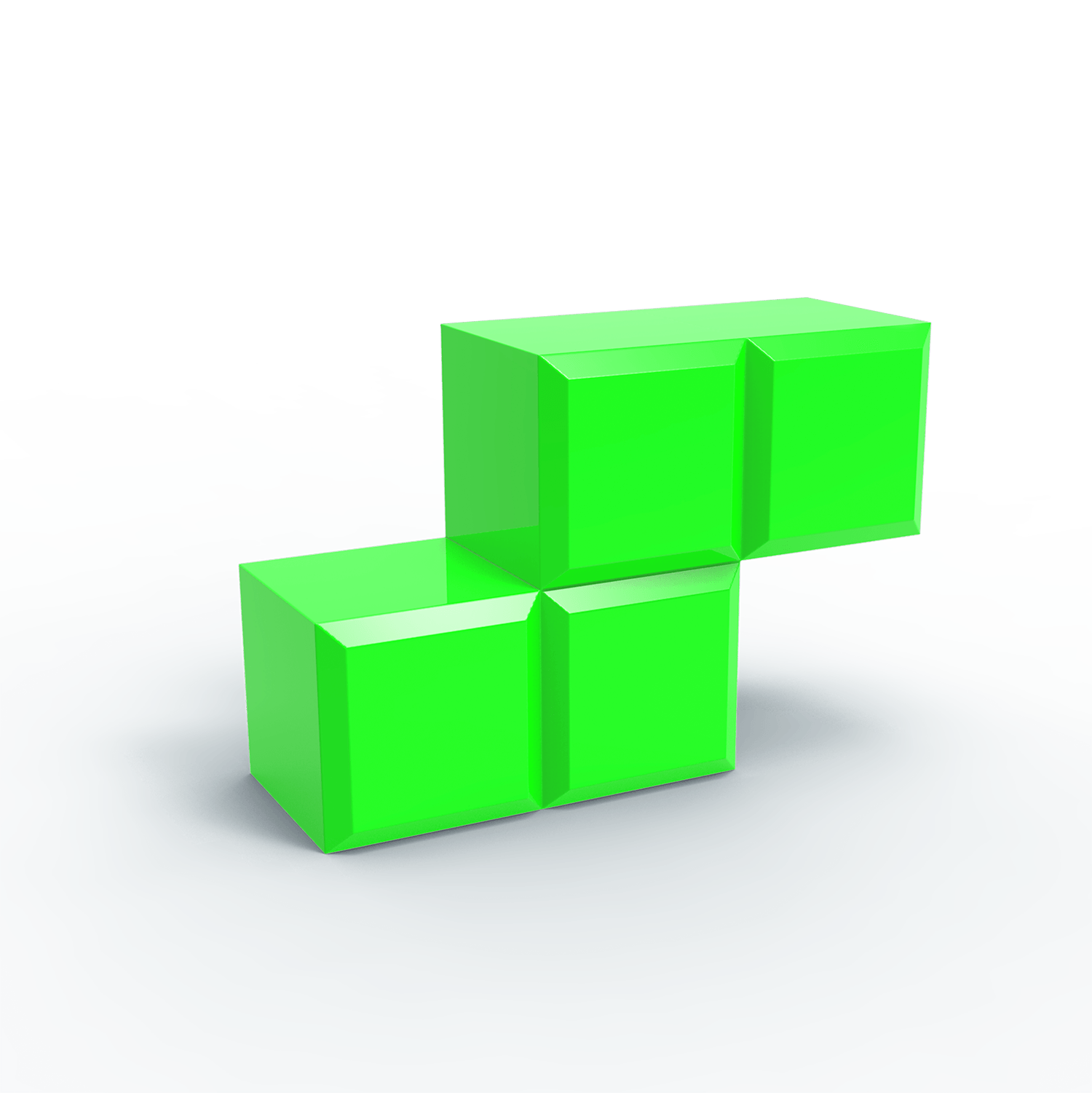Tetris Blocks 3d transparent PNG.