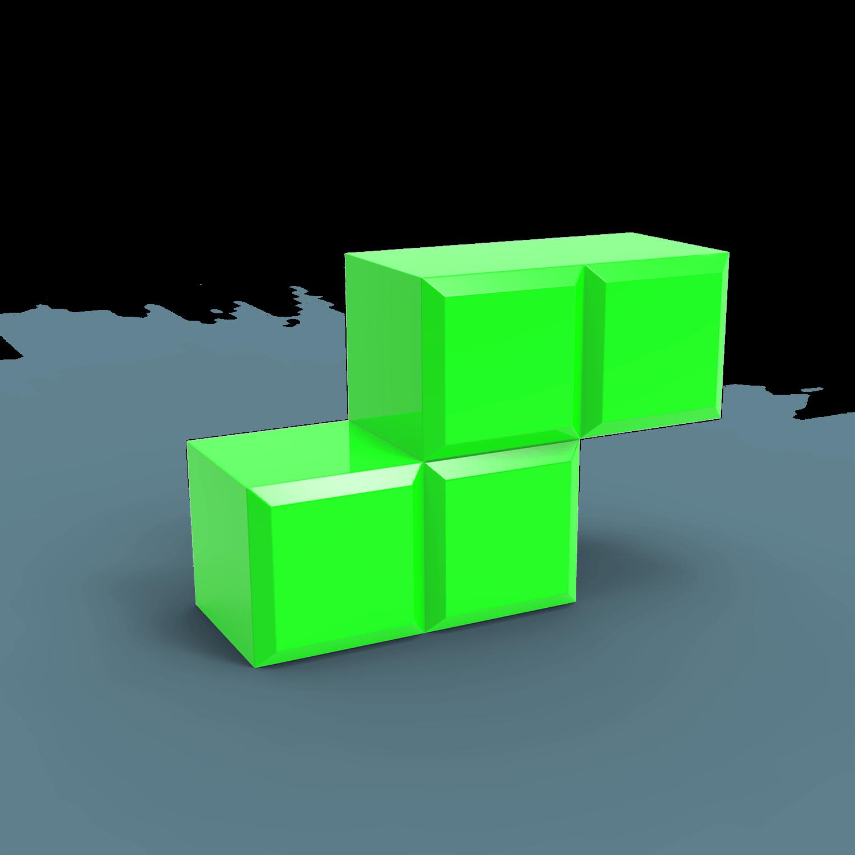 Tetris Blocks 3d transparent PNG.