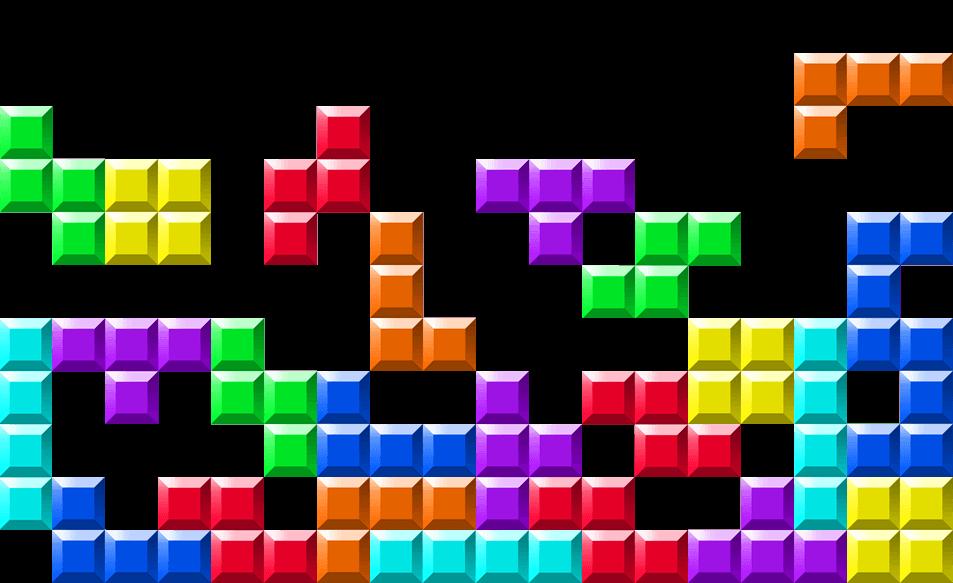 Tetris Blocks Wall transparent PNG.