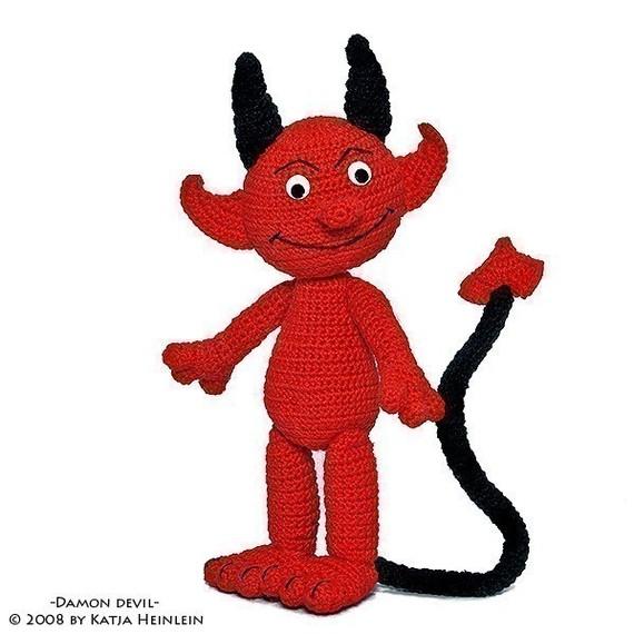 Teufel Devil PDF Häkelanleitung Amigurumi pattern von designshop.