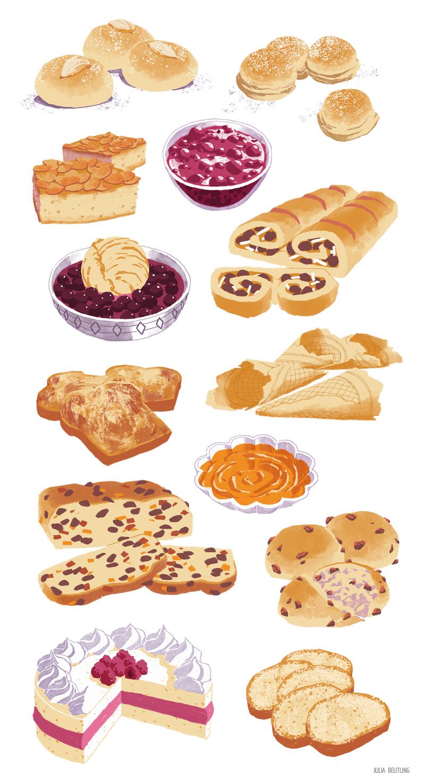 VEGAN FOOD ILLUSTRATION — More sweet stuff, anyone?.