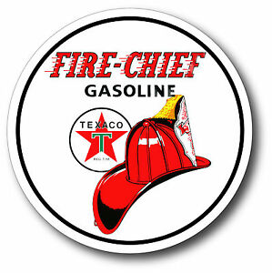 Details about TEXACO FIRE CHIEF GASOLINE SUPER HIGH GLOSS OUTDOOR 4 INCH  DECAL STICKER.