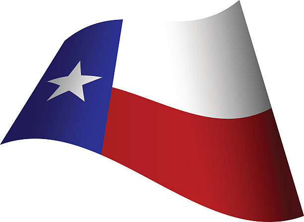 Silhouette Of Waving Texas Flag Clip Art, Vector Images.