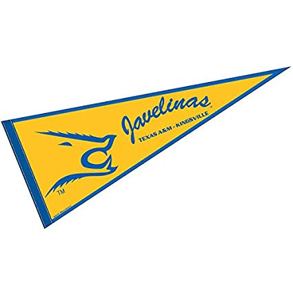College Flags and Banners Co. Texas A&M Kingsville Javelinas Pennant Full  Size Felt.
