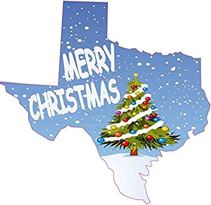 Amazon.com: 5in x 5in Texas Merry Christmas Sticker Car.