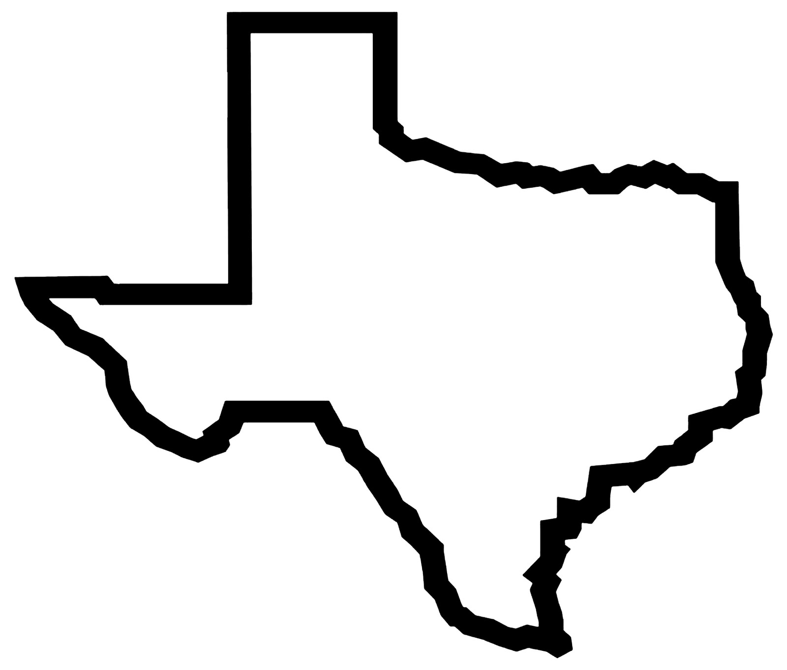 Texas Outline Clipart.