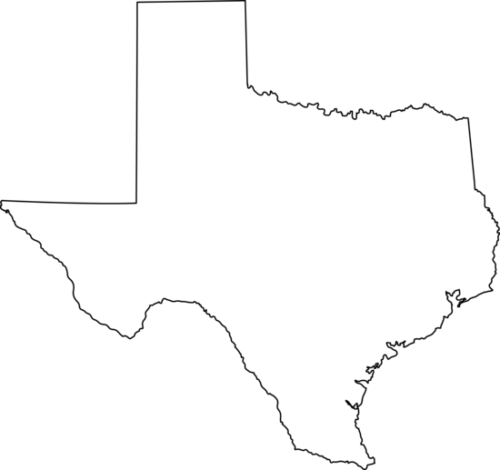 State of texas outline clip art.