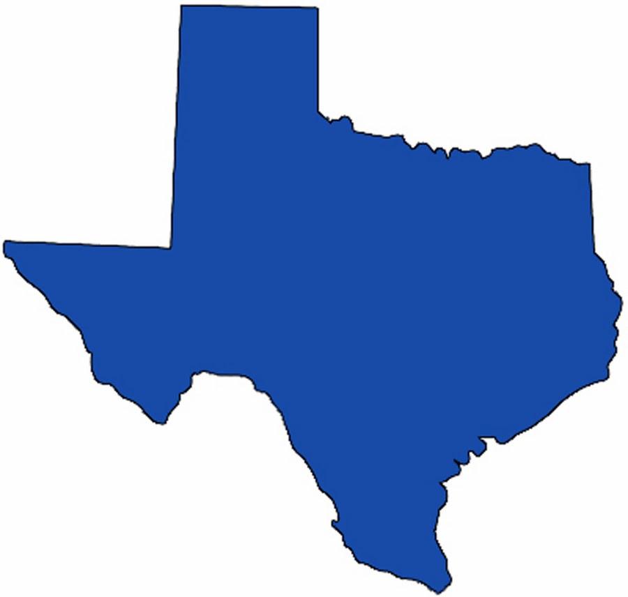 Map of texas clipart.