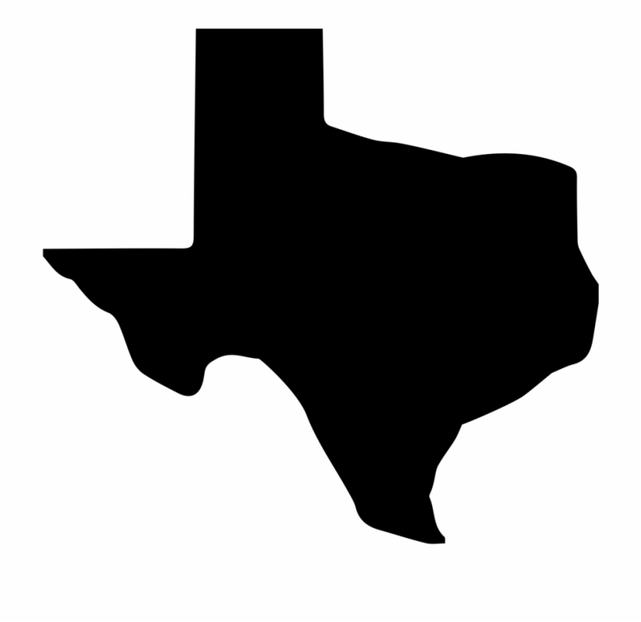Texas, Shape, Poster, Black, Black And White Png Image.