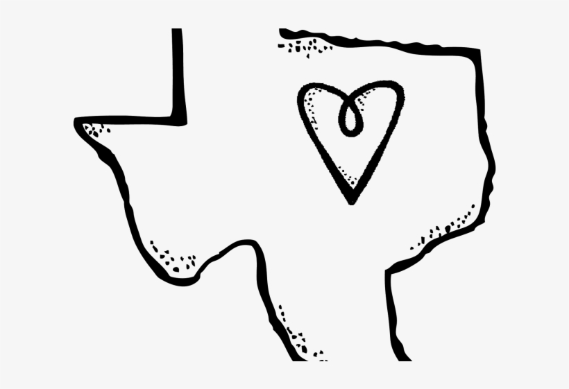 Texas Flag Clipart Outline.