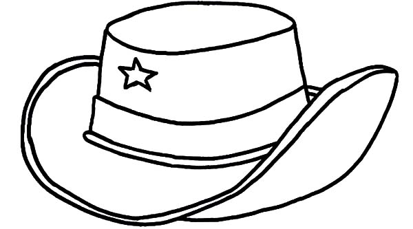 The best free Cowboy hat coloring page images. Download from.