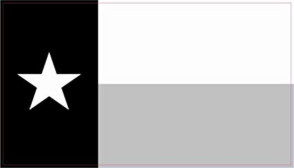 StickerTalk Texas Flag Vinyl Sticker, 4.25 inches by 2.5 inches.