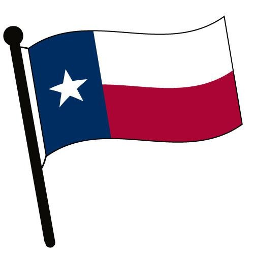 Texas Waving Flag Clip Art.