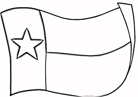 Texas Flag coloring page.