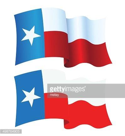 Texas Flag Waving Clipart Image.